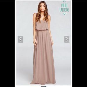 Show Me Your Mumu Kendall chiffon gown Dune